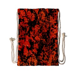 Abstract Orange Background Drawstring Bag (small) by Nexatart