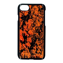 Abstract Orange Background Apple iPhone 7 Seamless Case (Black)