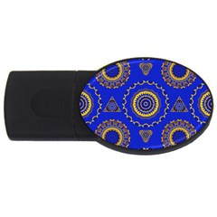 Abstract Mandala Seamless Pattern Usb Flash Drive Oval (4 Gb) by Nexatart