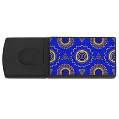 Abstract Mandala Seamless Pattern Usb Flash Drive Rectangular (4 Gb) by Nexatart