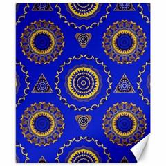 Abstract Mandala Seamless Pattern Canvas 8  X 10  by Nexatart