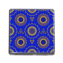 Abstract Mandala Seamless Pattern Memory Card Reader (square)