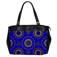 Abstract Mandala Seamless Pattern Office Handbags by Nexatart