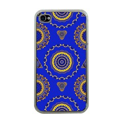 Abstract Mandala Seamless Pattern Apple iPhone 4 Case (Clear)