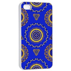 Abstract Mandala Seamless Pattern Apple Iphone 4/4s Seamless Case (white)