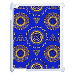Abstract Mandala Seamless Pattern Apple Ipad 2 Case (white) by Nexatart
