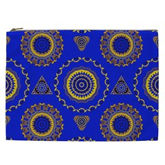 Abstract Mandala Seamless Pattern Cosmetic Bag (xxl)  by Nexatart
