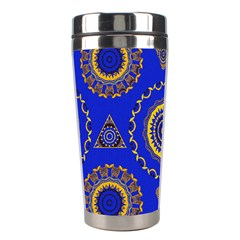 Abstract Mandala Seamless Pattern Stainless Steel Travel Tumblers