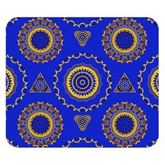 Abstract Mandala Seamless Pattern Double Sided Flano Blanket (small)