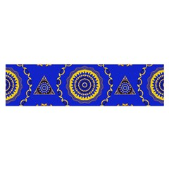 Abstract Mandala Seamless Pattern Satin Scarf (oblong)