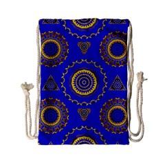 Abstract Mandala Seamless Pattern Drawstring Bag (small) by Nexatart