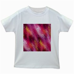 Red Seamless Abstract Background Kids White T Shirts