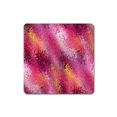 Red Seamless Abstract Background Square Magnet