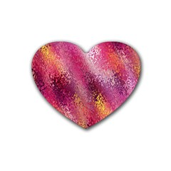 Red Seamless Abstract Background Heart Coaster (4 Pack)