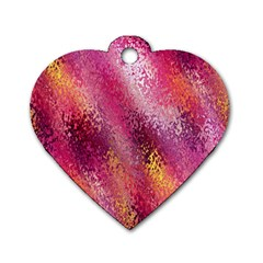 Red Seamless Abstract Background Dog Tag Heart (one Side)