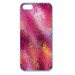 Red Seamless Abstract Background Apple Seamless Iphone 5 Case (color)