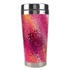 Red Seamless Abstract Background Stainless Steel Travel Tumblers by Nexatart