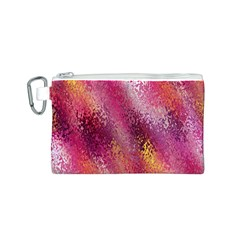 Red Seamless Abstract Background Canvas Cosmetic Bag (S) by Nexatart