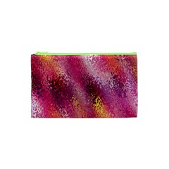 Red Seamless Abstract Background Cosmetic Bag (xs) by Nexatart