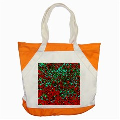 Red Turquoise Abstract Background Accent Tote Bag by Nexatart