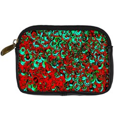 Red Turquoise Abstract Background Digital Camera Cases by Nexatart