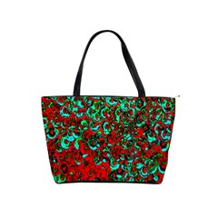 Red Turquoise Abstract Background Shoulder Handbags by Nexatart
