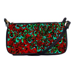 Red Turquoise Abstract Background Shoulder Clutch Bags by Nexatart