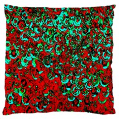 Red Turquoise Abstract Background Large Cushion Case (one Side)