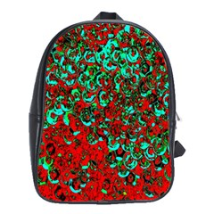 Red Turquoise Abstract Background School Bags (xl)  by Nexatart