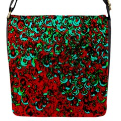 Red Turquoise Abstract Background Flap Messenger Bag (s) by Nexatart