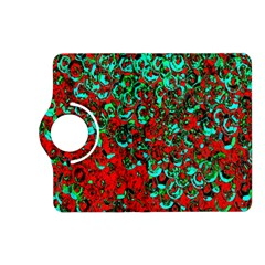 Red Turquoise Abstract Background Kindle Fire Hd (2013) Flip 360 Case