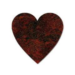 Olive Seamless Abstract Background Heart Magnet by Nexatart