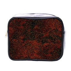 Olive Seamless Abstract Background Mini Toiletries Bags by Nexatart