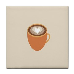 Artin Coffee Chocolate Brown Heart Love Tile Coasters by Mariart