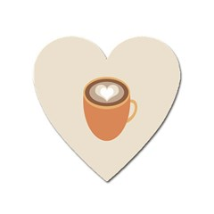 Artin Coffee Chocolate Brown Heart Love Heart Magnet by Mariart