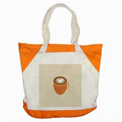 Artin Coffee Chocolate Brown Heart Love Accent Tote Bag by Mariart