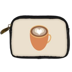 Artin Coffee Chocolate Brown Heart Love Digital Camera Cases by Mariart