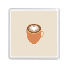 Artin Coffee Chocolate Brown Heart Love Memory Card Reader (square)  by Mariart