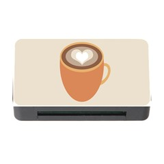 Artin Coffee Chocolate Brown Heart Love Memory Card Reader With Cf by Mariart