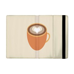 Artin Coffee Chocolate Brown Heart Love Apple Ipad Mini Flip Case by Mariart