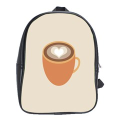 Artin Coffee Chocolate Brown Heart Love School Bags (xl)  by Mariart