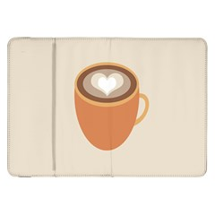 Artin Coffee Chocolate Brown Heart Love Samsung Galaxy Tab 8 9  P7300 Flip Case by Mariart