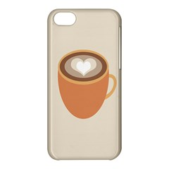 Artin Coffee Chocolate Brown Heart Love Apple Iphone 5c Hardshell Case by Mariart