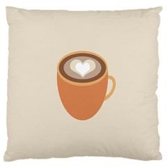 Artin Coffee Chocolate Brown Heart Love Standard Flano Cushion Case (one Side) by Mariart