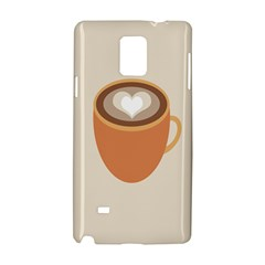 Artin Coffee Chocolate Brown Heart Love Samsung Galaxy Note 4 Hardshell Case by Mariart