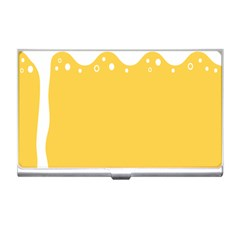 Beer Foam Yellow White Business Card Holders by Mariart