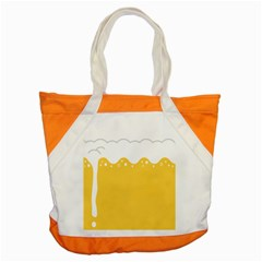 Beer Foam Yellow White Accent Tote Bag by Mariart