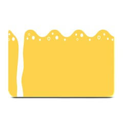 Beer Foam Yellow White Plate Mats by Mariart