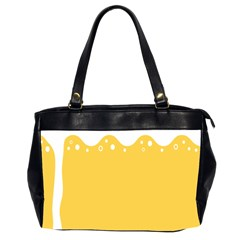 Beer Foam Yellow White Office Handbags (2 Sides)  by Mariart