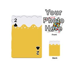 Beer Foam Yellow White Playing Cards 54 (mini)  by Mariart